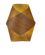 木制壁灯木皮灯木片制成E27灯头壁灯WOODEN WALL LAMP FROM TIMBER VENEER